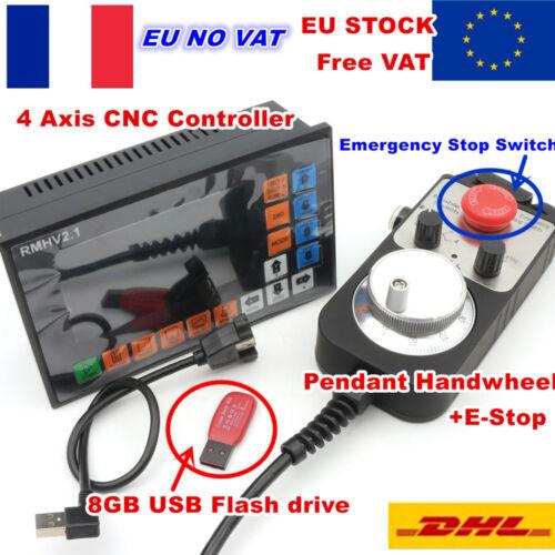 【FRA】4 Axis CNC Controller Standalone Offline Motion G-Code+MPG Handwheel+E-Stop