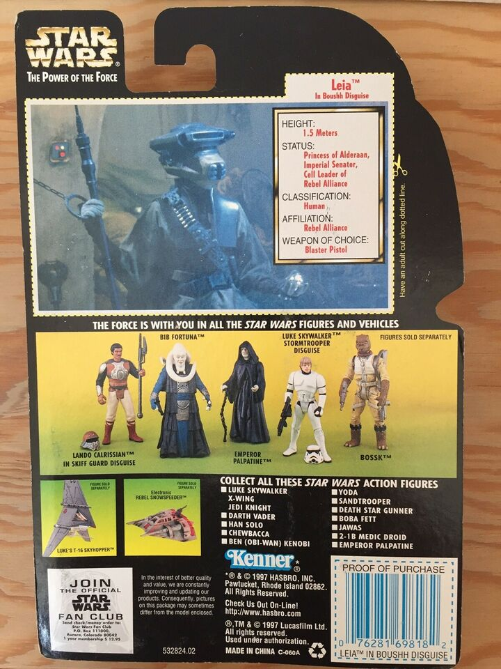 Leia in Boushh disguise , Star Wars Kenner