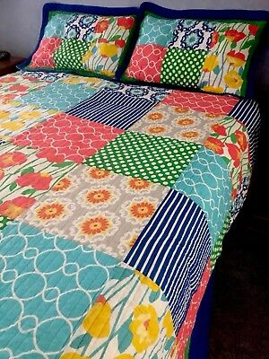 Springvale Quilted Bedspread And 2 Pillow Shams W295cm X L262cm Skilful Manufacture New Size