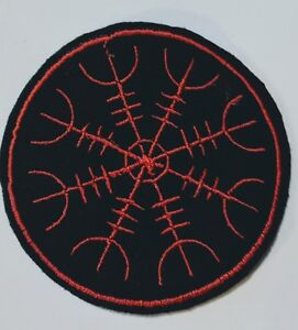 Viking Helm Of Terror Iron on Embroidered Patch applique