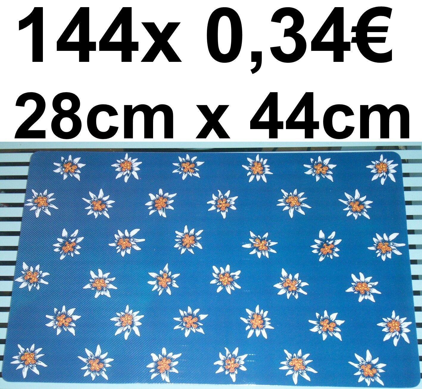 144x SET DE TABLE EDELWEISS noirWALD ALPES ALM AUTRICHE GASTRONOMIE