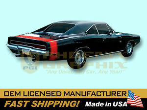 1970-Dodge-Charger-R-T-RT-Bumble-Bee-Decals-amp-Stripes-Kit