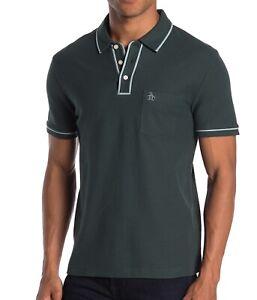 Original-Penguin-Men-039-s-Short-Sleeve-The-Earl-Pique-Polo-Shirt-Green-Gables