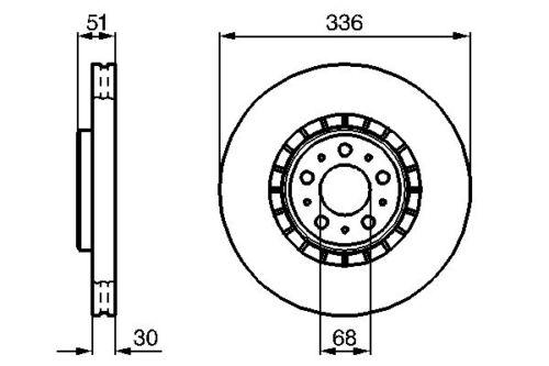 Vetech Front Vented Brake Disc 336mm Volvo Xc90 2002-2015 D5 3.2 V8 T6 2.5 T