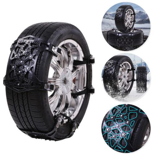 6× Car SUV Tire Anti-Skid Anti-Snow Chains Mud Road Emergency Thickening Black