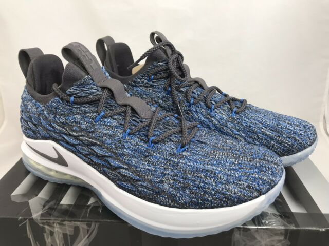 more photos 58fdc 9f1a4 Nike Lebron 15 Low Size 8 Basketball Shoes Signal Blue Thunder Gray Ao1755  400