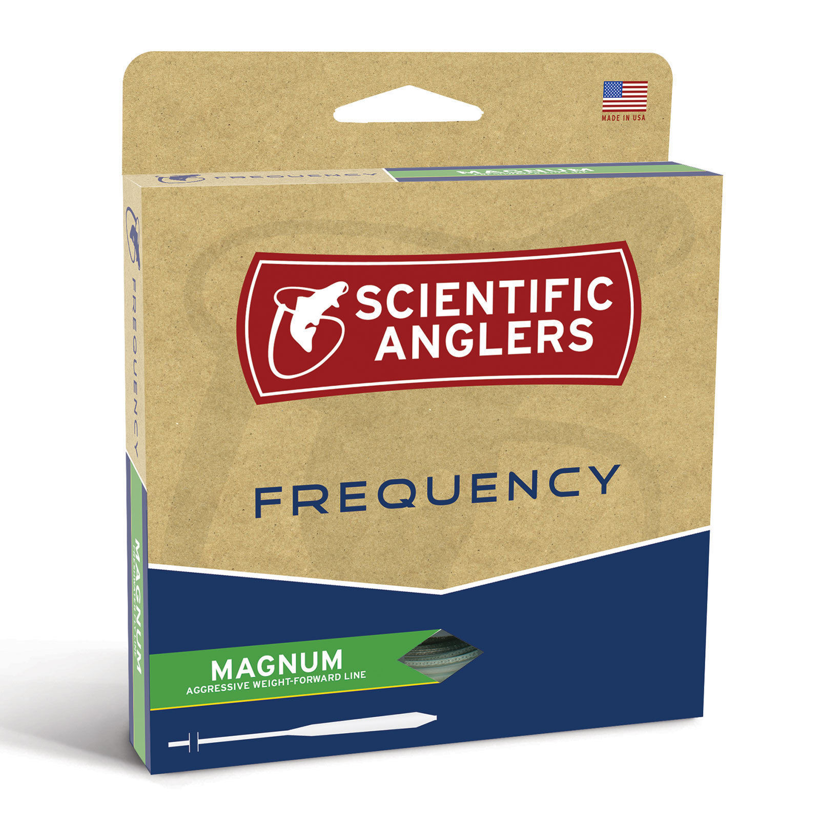 SCIENTIFIC ANGLERS FREQUENCY MAGNUM GLOW IN THE DARK WF6F  6 WEIGHT FLY LINE