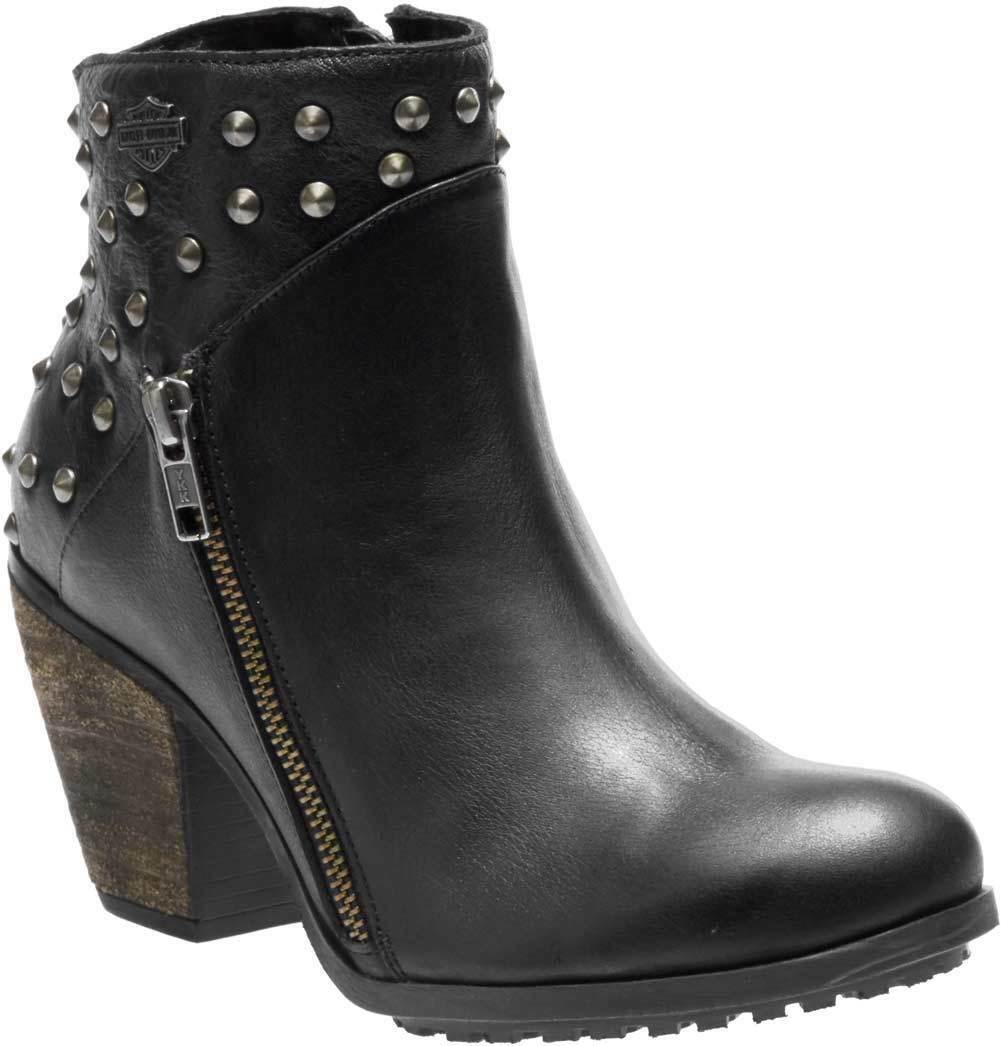 Harley Davidson Ladies Wexford Leather Boots Black D84125