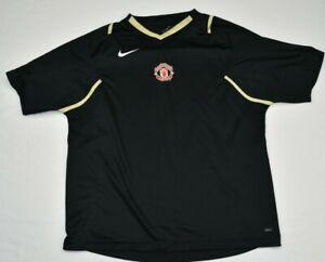 Nike-FC-Manchester-United-Football-Club-Jersey-EUC-Black-Size-Large-309
