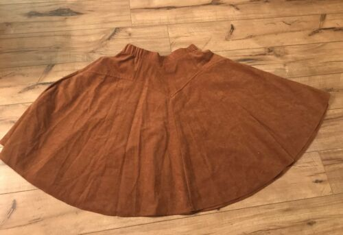 1849 Authentic Ranchwear Brown Cowgirl Skirt Size… - image 1