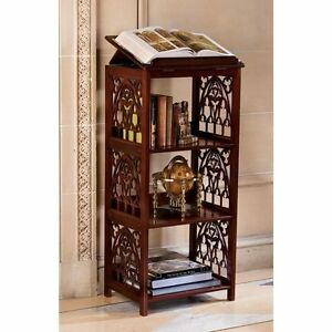 BN1447 - St. Thomas Aquinas Gothic Wooden Bookstand - Chippendale/Gothic style
