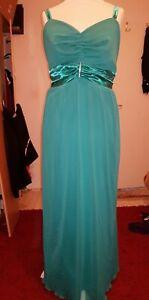 923e65c52c4b2 Das Bild wird geladen Abendkleid-Festkleid-Langes-Kleid-Tuerkis-Gr-50- Ballkleid