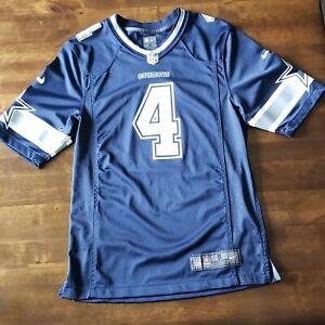 Details about Nike Dallas Cowboys Dak Prescott Jersey Navy Blue Men's Size Small