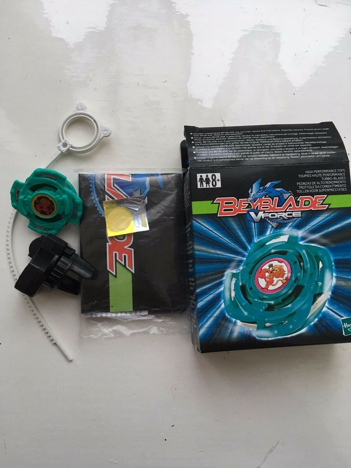 RARE BOXED HASBRO ORIGINAL FIRST GENERATION BISTOOL BEYBLADE COMPLETE