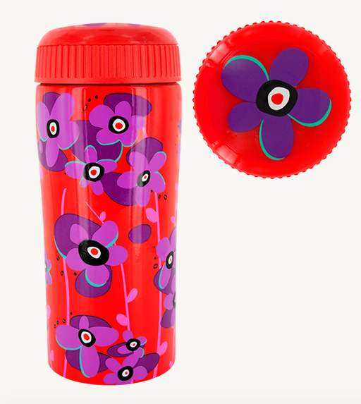 24785d7b632 Pylones Vacuum Mug Red Nymphea Thermos Wildflower Travel Cup Tea Coffee 10oz