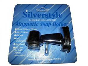 SILVERSTYLE-CHROME-PLATED-EASY-CLEAN-BATHROOM-MAGNETIC-SOAP-HOLDER-BRAND-NEW