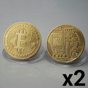 2x-Rare-Bitcoin-Gift-Stock-Golden-Iron-Commemorative-Coin-Gifts-Collectible-UK