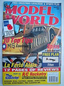 RC-Modell-Welt-Radio-Kontrollierte-Aircraft-Nov-1999-Komplett-Mit-Unbenutzt