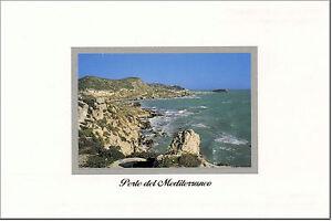 CARTOLINA-SICILIA-POSTCARD-SICILY-LICATA-MARE-SEA-SPIAGGIA-DELLA-MOLLARELLA