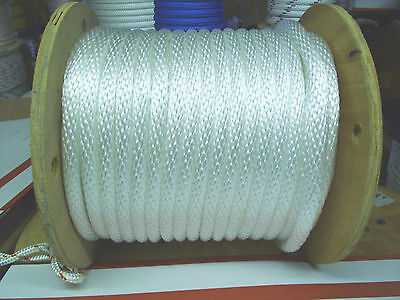 """ANCHOR ROPE,DOCK LINE 1//2/"""" X 59/' BLACK PURE  NYLON NO FILLERS MADE USA"""