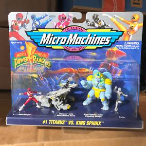 MICRO MACHINES - Mighty Morphin Power Rangers #1 Titanus vs. King Sphinx Set MIP