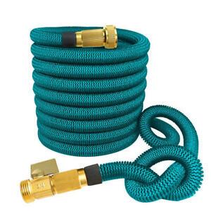 "75FT Garden Hose Garden Hose Reels with 3/4"" Solid Brass Connector"