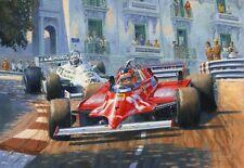 GILLES VILLENEUVE FERRARI f1 MONACO GRAND PRIX MOTOR SPORT AUTO DA CORSA Art Print