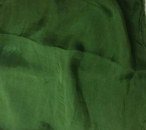 Sheer Soft Silk ORGANZA Fabric Hand Dyed SPINACH GREEN 1//3 yard remnant
