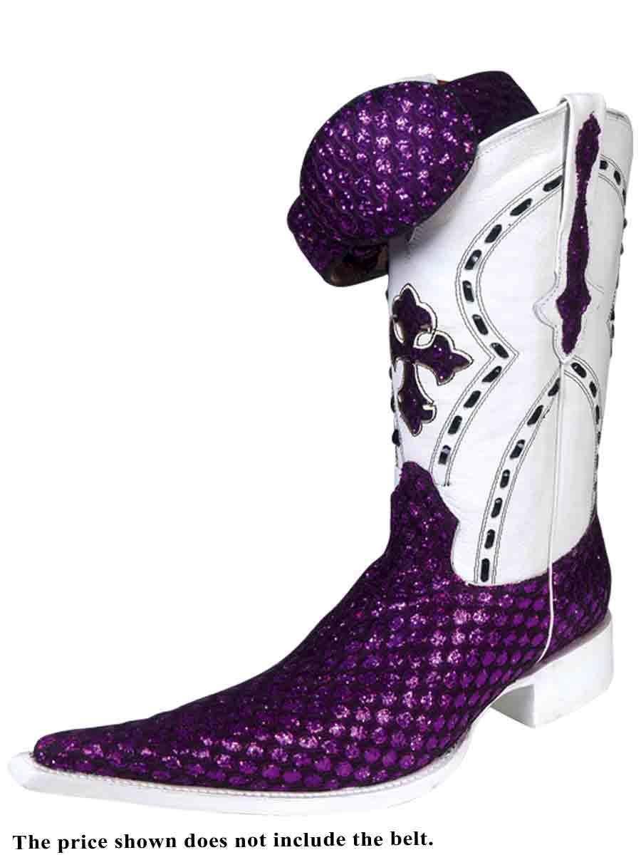 Cowboy Boots Bota Vaquera El General (Spcls) Sugar ID 27409 PW1 Morado/Negro