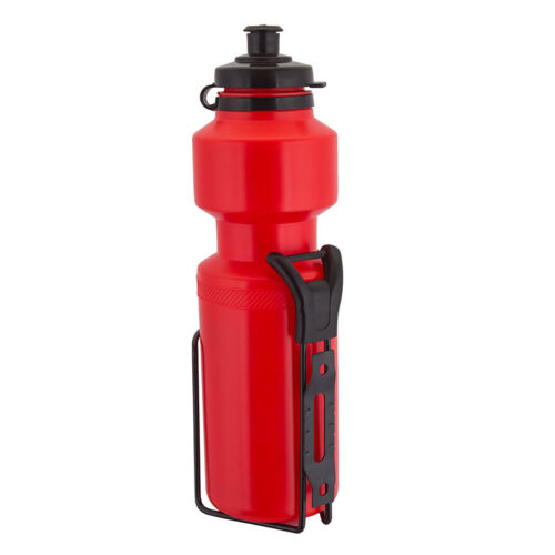 Sunlite Water Bottles w//Cages Bottle Sunlt 25oz W//stl Cage Red
