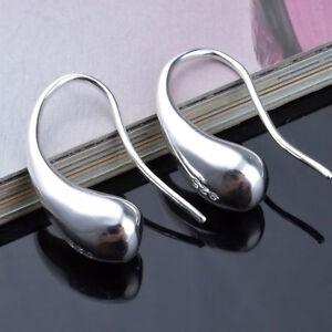 1-Paar-Ohrringe-Silber-Farbe-Schmuck-Ohrring-Ohrring-Tropfen-Art-PAL