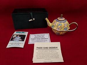 Details about Miniature Teapot Trade Plus Aid Tea Pot FLORAL FLOWERS  YELLOW, PINK, BLUE