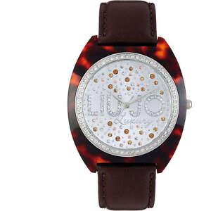 Liu-Jo-Watch-Watch-woman-Uhr-Brown-Leather-Resin-tlj386-Alice-Women-Stras-LJ