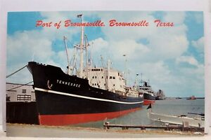 Texas-TX-Brownsville-Port-Tennessee-Ship-Postcard-Old-Vintage-Card-View-Standard