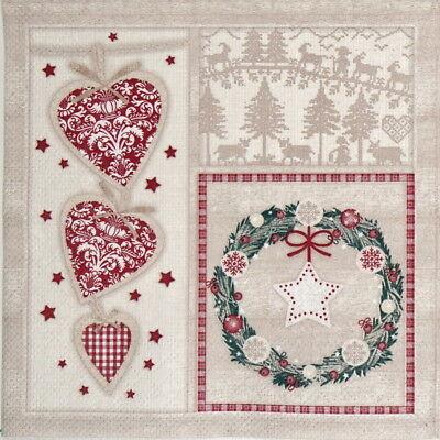 4x Paper Napkins for Decoupage Decopatch Craft Benita Christmas Ornaments