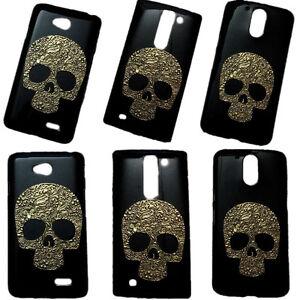 Fashion Vintage Bronze Skull Skeleton Hard Back Protective Case Cover for Phones