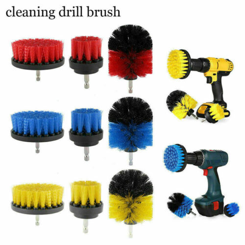 3Pcs//Set Power Scrubber Cleaning Drill Brush Tile Grout Tub Cleaner Tools C N0J9
