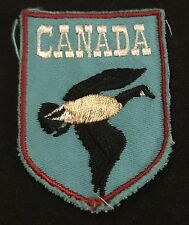 CANADA Vintage Souvenir Patch CANADIAN SNOW GOOSE Travel  Hiking