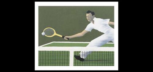 Mens Tennis WIMBLEDON 1936 Art Deco-Style Classic Premium POSTER Print