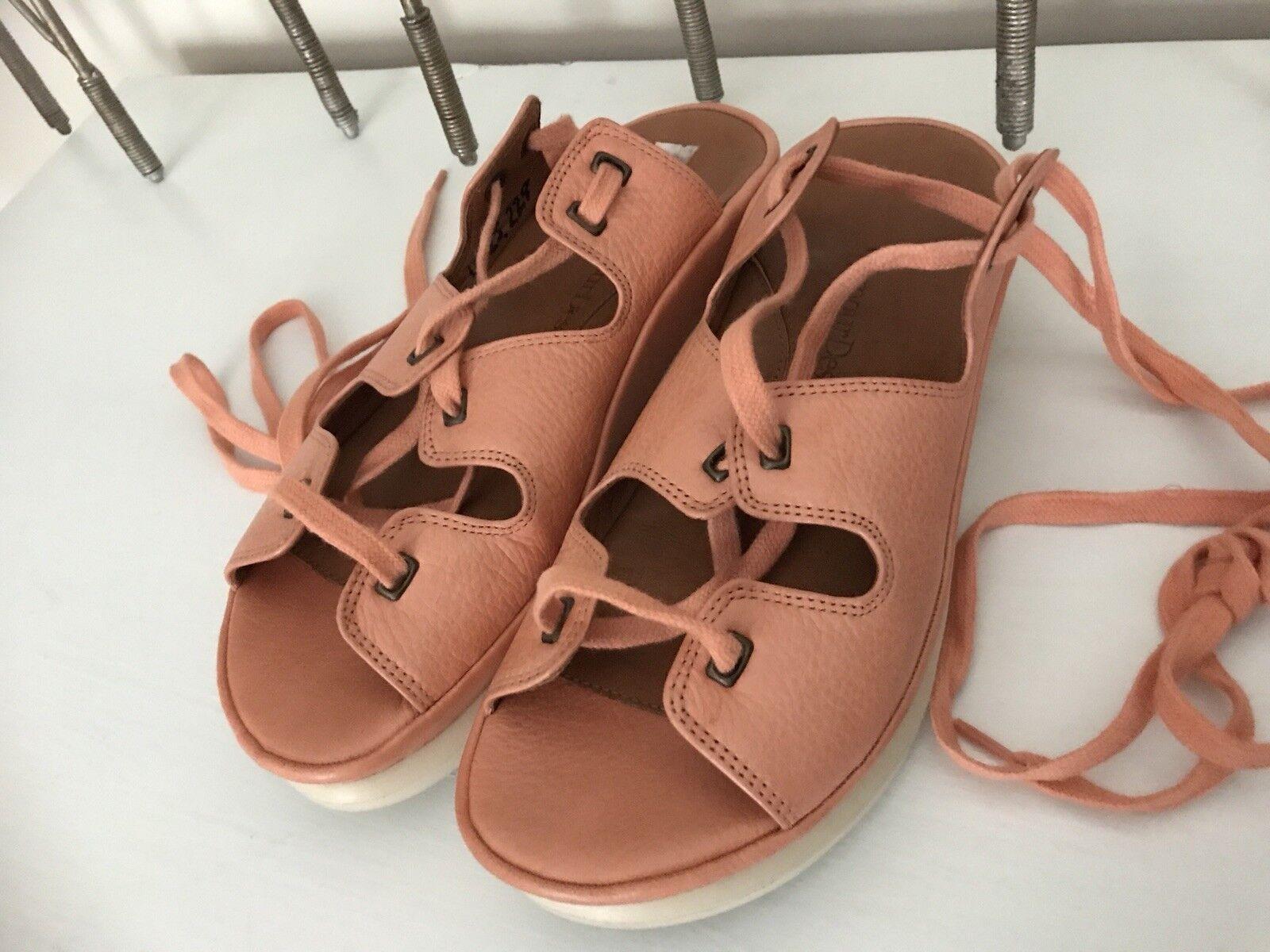 7 amour des pieds Ghillie LACED Gladiateur Style saumon Sandales en cuir