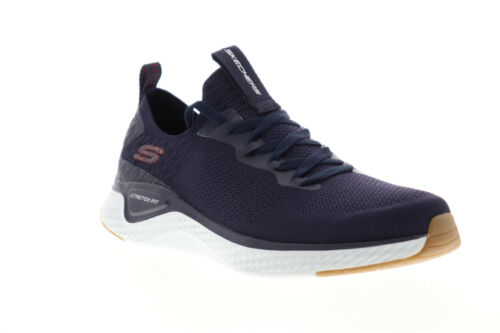 Skechers Solar Fuse Valedge 52757 Mens Blue Canvas Athletic Running Shoes