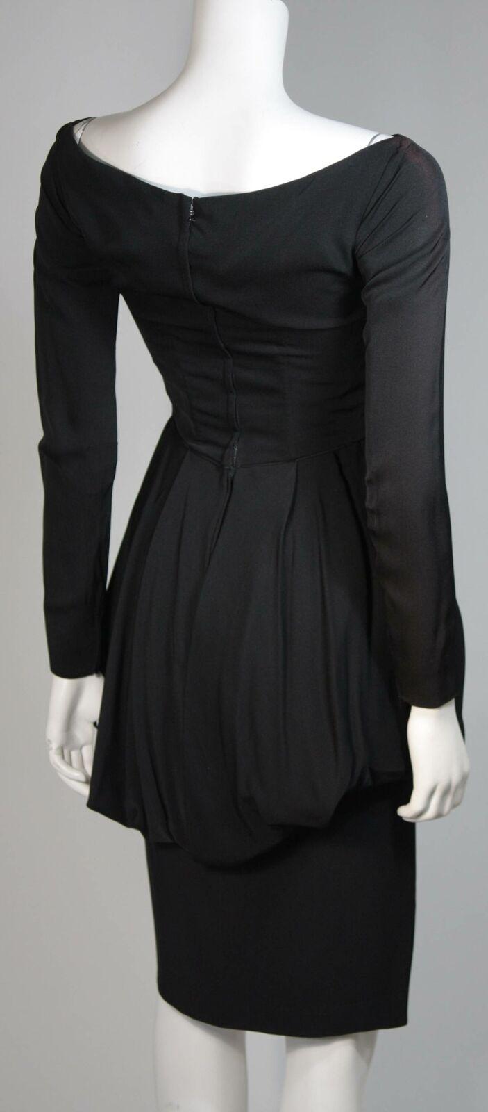 CEIL CHAPMAN Black Draped Princess Style Waist Dr… - image 7