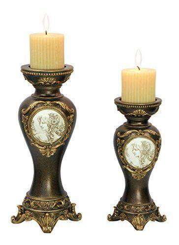 Ok Lighting Ok-4192C 14In 11Inh Candleholder Set Set Of 2 Bronze New