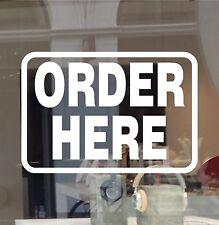 ORDER HERE SIGN DECAL BUSINESS VINYL STICKER RETAIL RESTAURANT CUSTOMER