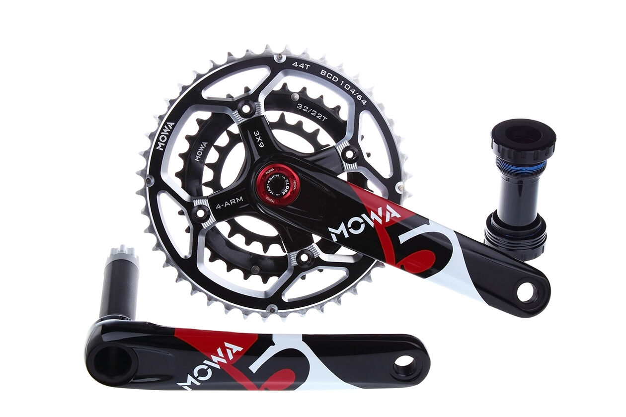 Bicicleta De Montaña MOWA cinco Triple Bielas Para Ciclismo 44 32 22t 175 mm Negro