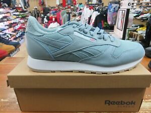 be8cb9c13f2 Reebok Classic Leather Mu (WHISPER TEAL WHITE) Men s Shoes BS9724