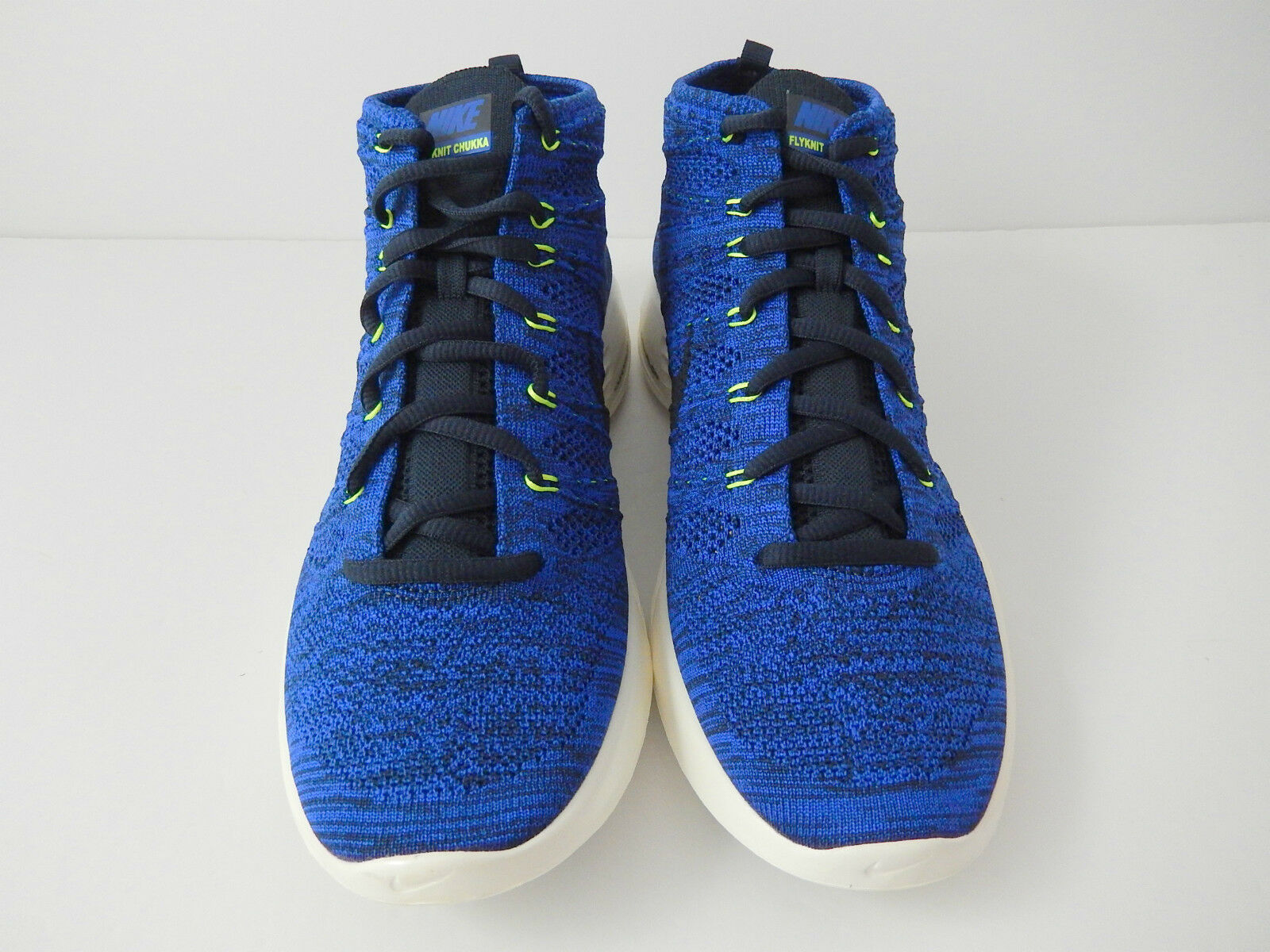 NIKE ROYAL LUNAR FLYKNIT CHUKKA DARK OBSIDIAN-GAME ROYAL NIKE BLUE SZ 9.5 [554969-444] 5e806f
