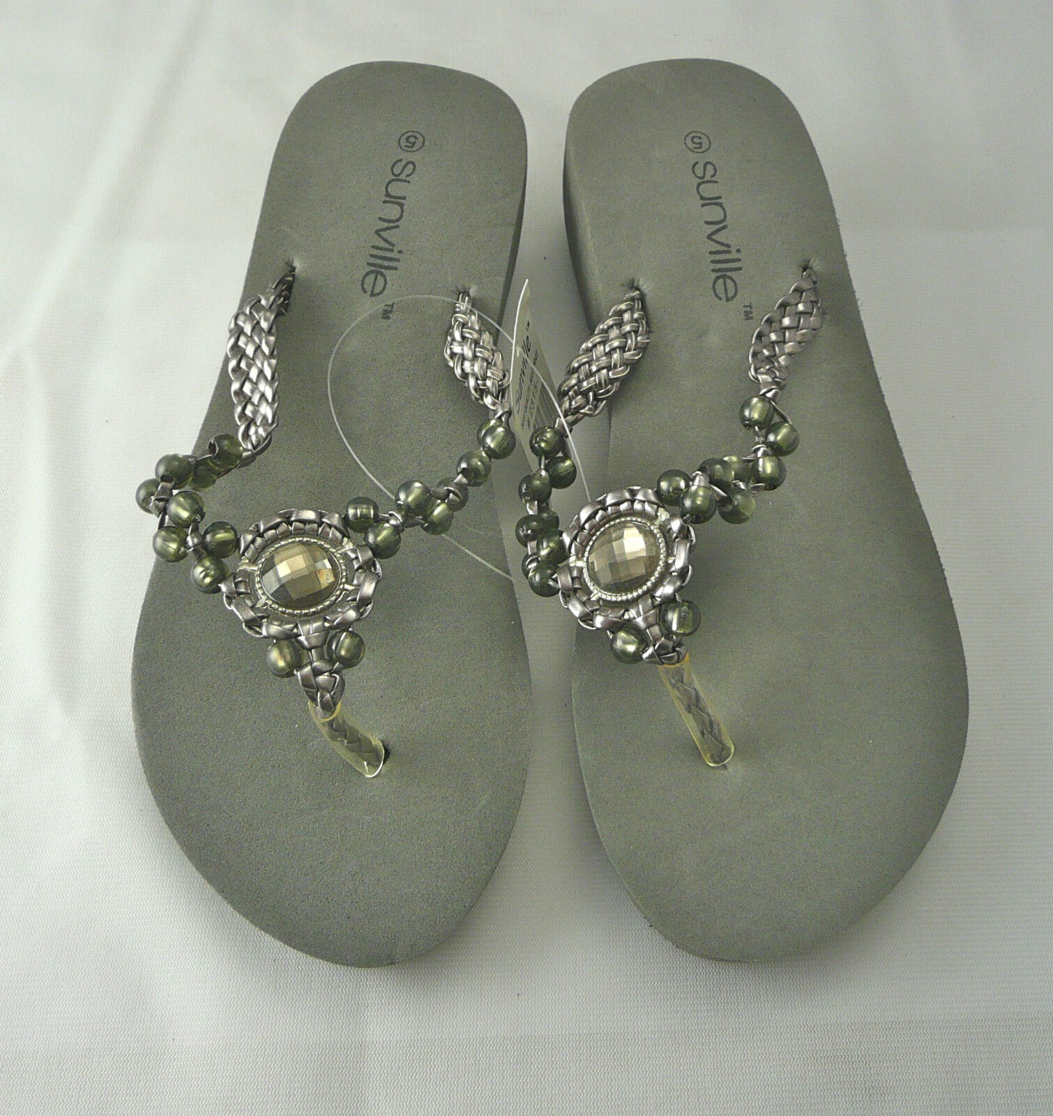 Womens Sandals/Wedges Gray solid by Sunville Brand New Free Shipping, solid Gray hard foam c6ecd0
