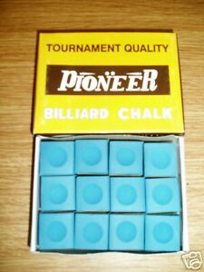 AVAILABLE IN MANY COLOURS. BOX 12 PIECES CUE CHALK
