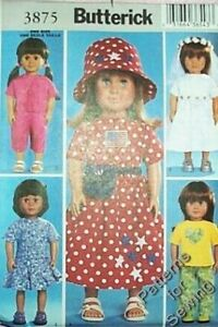 Pattern-Sewing-Butterick-Doll-Clothes-Girl-fits-18-034-inch-Summer-Outfits